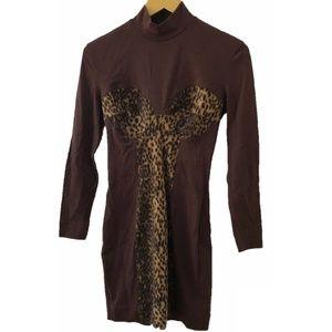 Vintage Alberta Ferretti Cheetah Mini Dress
